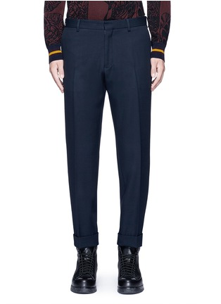 Main View - Click To Enlarge - Dries Van Noten - 'Philip' rolled cuff wool pants