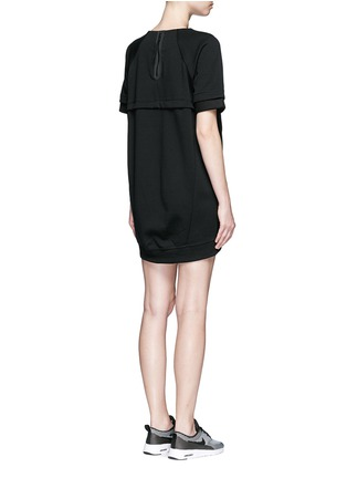 Back View - Click To Enlarge - Nike - 'Tech Fleece' mesh cuff jersey dress