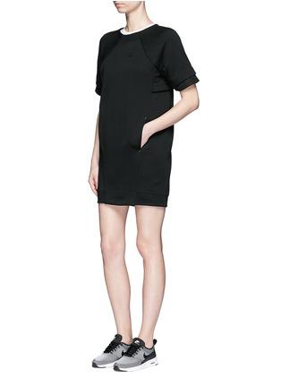 Figure View - Click To Enlarge - NIKE - 'Tech Fleece' mesh cuff jersey dress