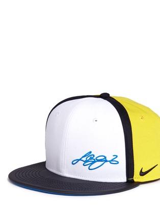 Front View - Click To Enlarge - NIKE - 'LeBron 13 True' colourblock baseball cap