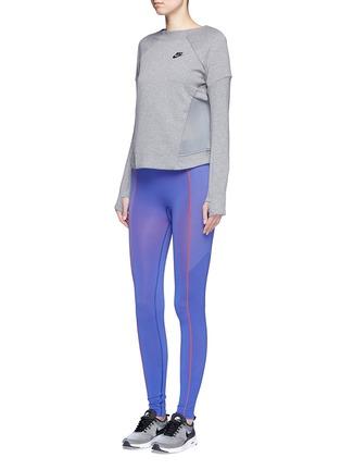 Figure View - Click To Enlarge - NIKE - 'Tech Fleece Mesh Crew' sweatshirt