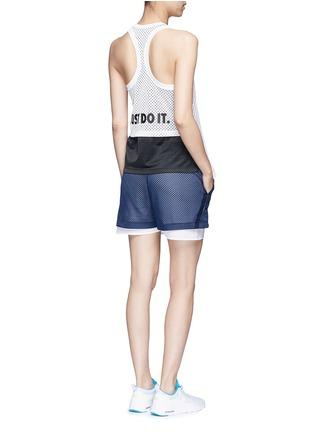 Figure View - Click To Enlarge - Nike - 'Nike Mesh' logo print tank top