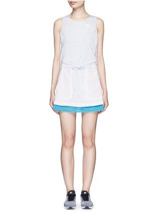 Main View - Click To Enlarge - NIKE - 'AS Nike Premium Pack' mesh jersey dress