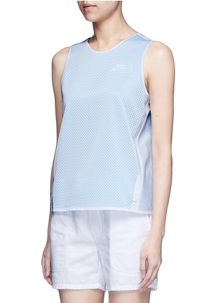 Front View - Click To Enlarge - Nike - 'AS Nike Premium Pack' mesh layered tank top
