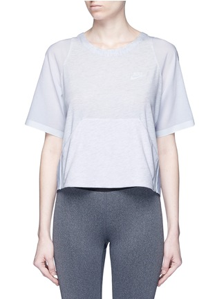 Main View - Click To Enlarge - Nike - 'AS Nike Premium Pack' mesh underlay T-shirt