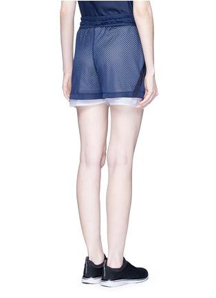 Back View - Click To Enlarge - Nike - 'AS Nike Premium Pack' mesh layered running shorts
