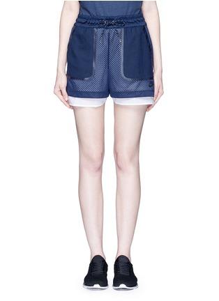 Main View - Click To Enlarge - Nike - 'AS Nike Premium Pack' mesh layered running shorts
