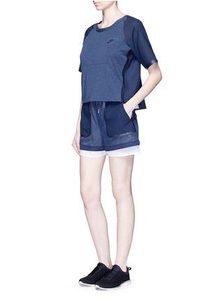 Figure View - Click To Enlarge - Nike - 'AS Nike Premium Pack' mesh layered running shorts