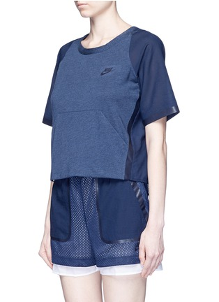 Front View - Click To Enlarge - Nike - 'AS Nike Premium Pack' mesh underlay T-shirt