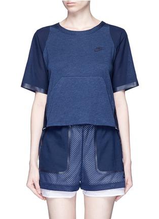 Main View - Click To Enlarge - Nike - 'AS Nike Premium Pack' mesh underlay T-shirt
