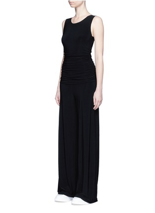 Front View - Click To Enlarge - NORMA KAMALI - Shirred waist jersey jumpsuit