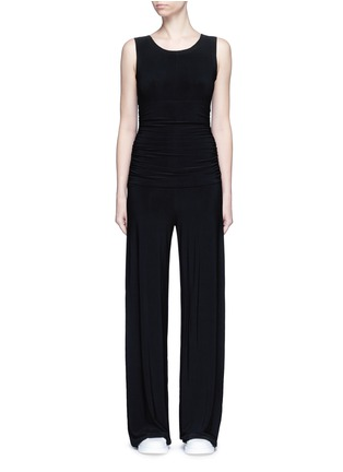 Main View - Click To Enlarge - NORMA KAMALI - Shirred waist jersey jumpsuit
