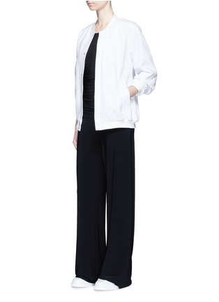 Figure View - Click To Enlarge - NORMA KAMALI - Shirred waist jersey jumpsuit