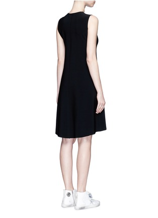 Back View - Click To Enlarge - Norma Kamali - Bonded jersey swing dress