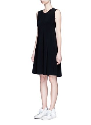 Front View - Click To Enlarge - Norma Kamali - Bonded jersey swing dress