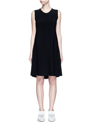 Main View - Click To Enlarge - Norma Kamali - Bonded jersey swing dress