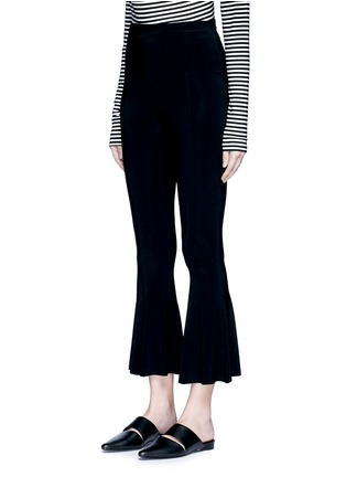 Front View - Click To Enlarge - Norma Kamali - Cropped fishtail pants