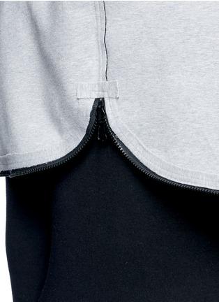 Detail View - Click To Enlarge - NORMA KAMALI - Reversible bonded jersey zip hoodie