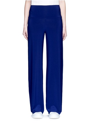 Main View - Click To Enlarge - Norma Kamali - 'Straight Leg Pant Go' in Blueberry