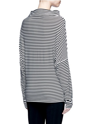 Back View - Click To Enlarge - Norma Kamali - 'All In One Mini' stripe convertible jersey skirt top