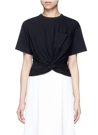 Main View - Click To Enlarge - T By Alexander Wang - Twist front cropped T-shirt