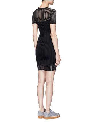 Back View - Click To Enlarge - T By Alexander Wang - Jacquard jersey dress