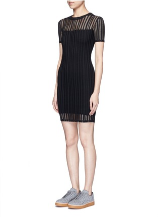 Front View - Click To Enlarge - T By Alexander Wang - Jacquard jersey dress