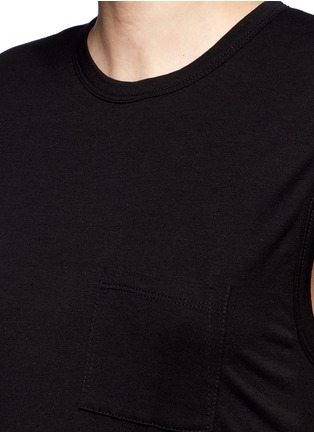 Detail View - Click To Enlarge - T By Alexander Wang - Chest pocket layered jersey dress