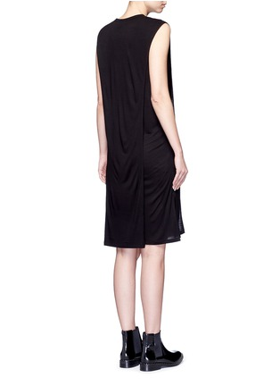 Back View - Click To Enlarge - T By Alexander Wang - Chest pocket layered jersey dress