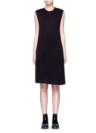 Main View - Click To Enlarge - T By Alexander Wang - Chest pocket layered jersey dress