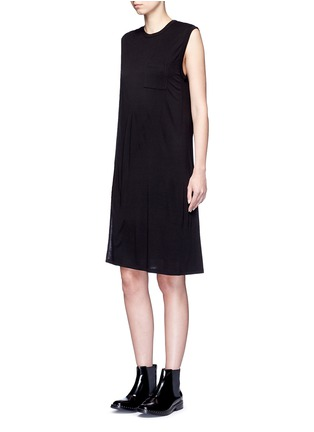 Figure View - Click To Enlarge - T By Alexander Wang - Chest pocket layered jersey dress