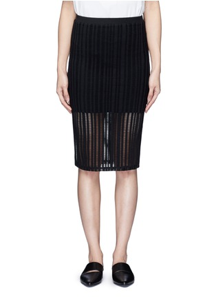 Main View - Click To Enlarge - T By Alexander Wang - Jacquard jersey pencil skirt