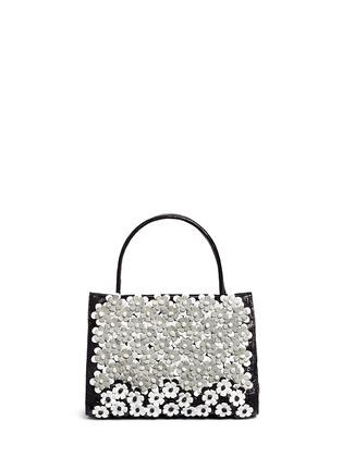 Main View - Click To Enlarge - Nancy Gonzalez - 'Small Wallis' flower appliqué crocodile leather bag