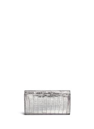 Back View - Click To Enlarge - Nancy Gonzalez - Embellished metallic crocodile leather clutch