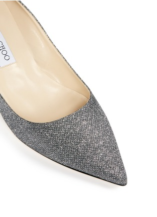 Detail View - Click To Enlarge - Jimmy Choo - 'Aza' lamé glitter pumps