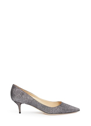 Main View - Click To Enlarge - Jimmy Choo - 'Aza' lamé glitter pumps