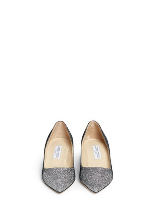 Figure View - Click To Enlarge - Jimmy Choo - 'Aza' lamé glitter pumps