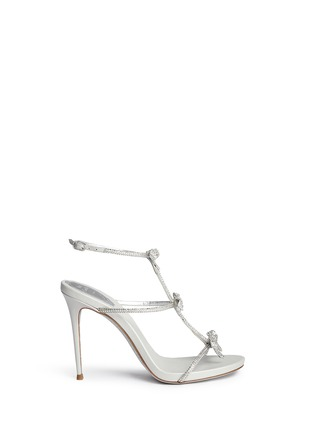 Main View - Click To Enlarge - RENÉ CAOVILLA - Strass pavé bow satin leather sandals