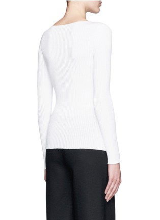 Back View - Click To Enlarge - Theory - 'Veena' rib knit sweater