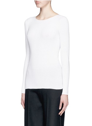 Front View - Click To Enlarge - Theory - 'Veena' rib knit sweater