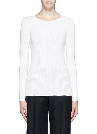 Main View - Click To Enlarge - Theory - 'Veena' rib knit sweater