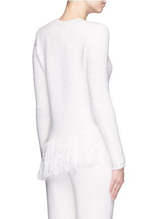 Back View - Click To Enlarge - Theory - 'Hudina R' fringe hem bouclé knit sweater