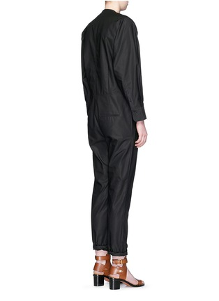 Back View - Click To Enlarge - Isabel Marant - Collarless cotton poplin jumpsuit