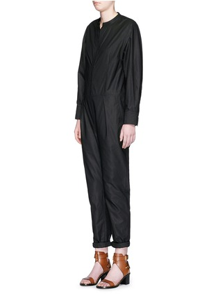 Front View - Click To Enlarge - Isabel Marant - Collarless cotton poplin jumpsuit