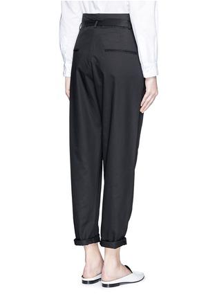 Back View - Click To Enlarge - Isabel Marant - Metal grommet belt cropped pants