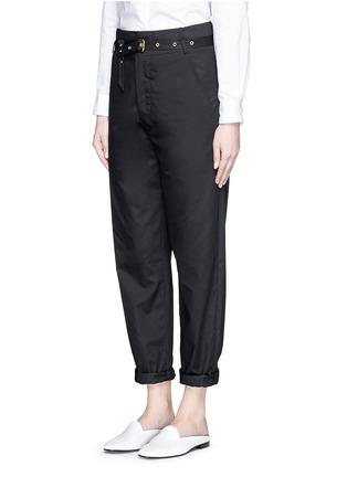 Front View - Click To Enlarge - Isabel Marant - Metal grommet belt cropped pants
