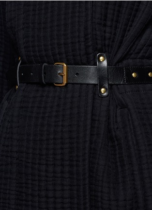 Detail View - Click To Enlarge - Isabel Marant - Buckle waist quilted jacket