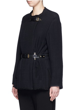 Front View - Click To Enlarge - Isabel Marant - Buckle waist quilted jacket