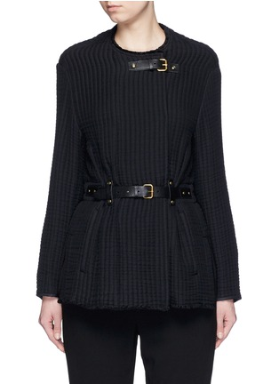 Main View - Click To Enlarge - Isabel Marant - Buckle waist quilted jacket