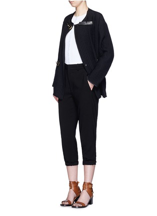 Figure View - Click To Enlarge - Isabel Marant - Buckle waist quilted jacket